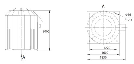Габаритно-присоединительные размеры ВКРФм ДУ-10