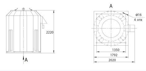 Габаритно-присоединительные размеры ВКРФм ДУ-11,2