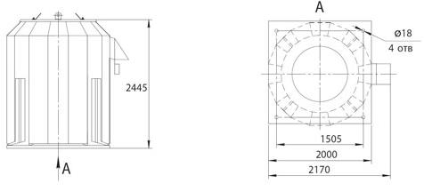 Габаритно-присоединительные размеры ВКРФм ДУ-12,5