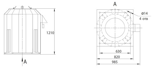 Габаритно-присоединительные размеры ВКРФм ДУ-5