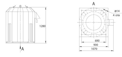 Габаритно-присоединительные размеры ВКРФм ДУ-5,6