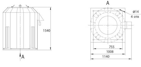Габаритно-присоединительные размеры ВКРФм ДУ-6,3