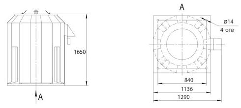 Габаритно-присоединительные размеры ВКРФм ДУ-7,1