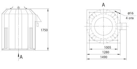 Габаритно-присоединительные размеры ВКРФм ДУ-8
