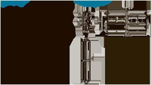 Схемы кассет из «канальных» клапанов КЛОП®-3 с приводом BELIMO