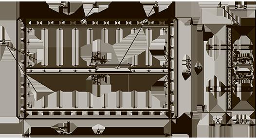Схема конструкции клапана КЛОП®-3 с приводом BELIMO