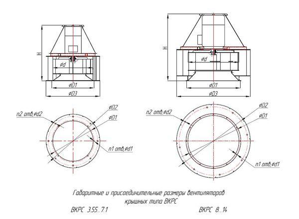 Габаритно-присоединительные размеры ВКРС