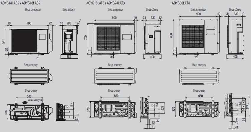 Наружные блоки мульти-сплит систем Fujitsu Inverter для 2,3 или 4 помещений